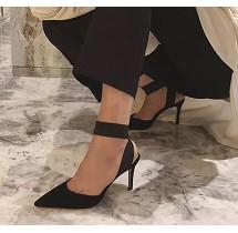 X-24129# 秋季新款女鞋高跟鞋子 女鞋批发鞋子货源