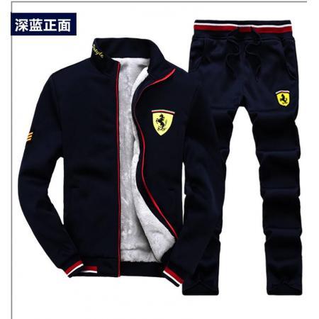 YF28482# 休闲套装男秋季时尚舒适潮流搭配帅气秋装衣服两件套