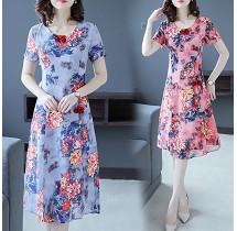 YF30217# 夏季新品女装优雅盘扣时尚气质改良式短袖旗袍裙子 服装批发女装直播货源