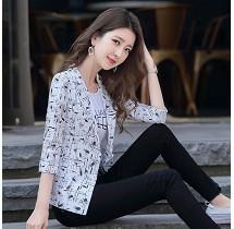 YF31854# 中袖西装外套女韩版小个子修身短款复古时尚潮流百搭气质女士西服 服装批发女装直播货源