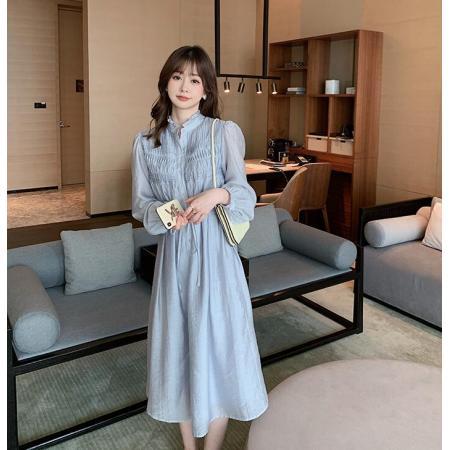 YF33381# 春风拂过风琴的波澜!柔雾感连衣裙
