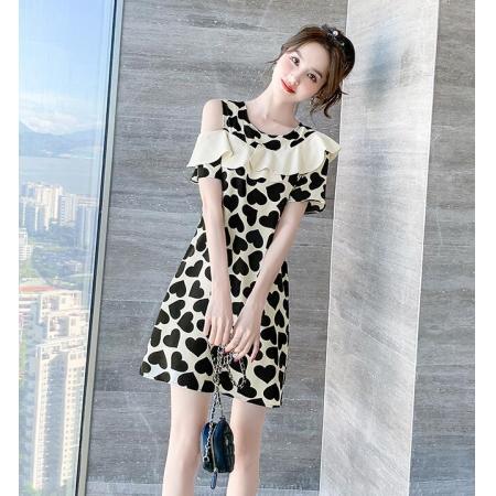 YF38247# 夏装新款女法式雪纺连衣裙高端设计感裙子夏季名媛气质小个子服装批发女装直播货源