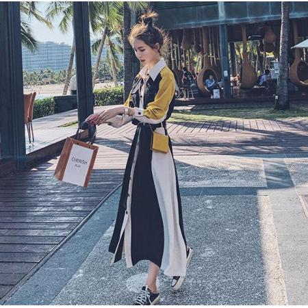 YF38938# 连衣裙新款春秋季设计感小众法式复古小个子气质显瘦长裙子潮 服装批发女装货源