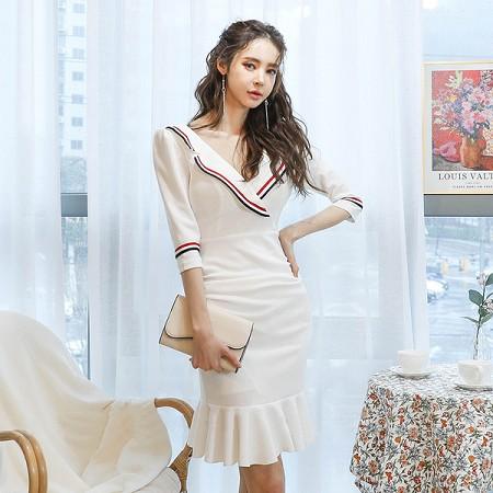 YF41235# 夏季轻奢个性女生范韩版小礼服短款连衣裙晚礼裙 服装批发女装货源