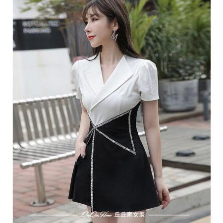 YF48769# 夏季新款套装韩版时尚西装短裤黑白配两件套职业气质女神范