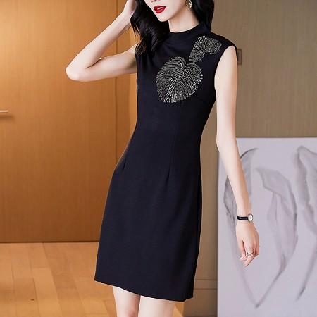 YF51558# 连衣裙新款夏气质修身小众复古轻奢包臀连衣裙 服装批发女装直播货源