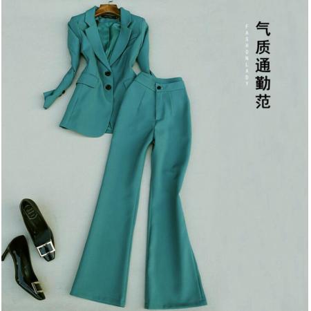 YF54770# 小西装名媛套装女新款韩版春秋显瘦西服外套气质 两件套