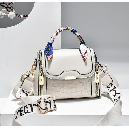 YF69496# 石头纹小方包女新款潮女士丝巾手提韩版时尚单肩挎包一件代发 包包批发女包货源