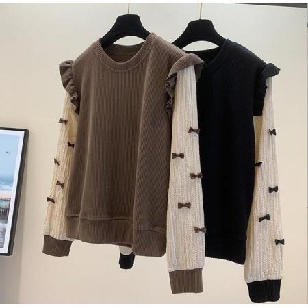 YF70830# 假两件针织衫...